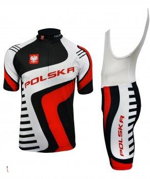 0b747add9aeb7 Produkt Komplet kolarski koszulka + spodenki Polska z kategorii Komplety w  cenie 199.00 zł - VIKASPORT.PL
